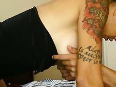 tattooed dana stuffs his fat schlong unfathomable