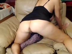 wicked 53 year old floozy teasing on webcam, part