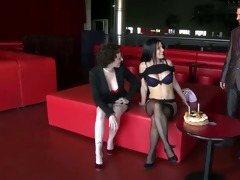triple anal for lana in nylons