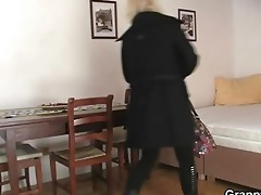 old golden-haired is doggy style drilled