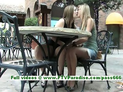 leslie and danielle superb lesbo women kissing