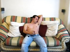 undress and jerking off