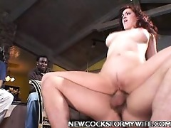 nice-looking wife have a fun large shlong poking