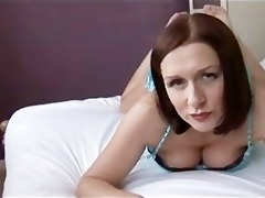 busty impressive milf showing off her bulky bald