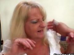 drunk blond granny in sexy some fuckfest