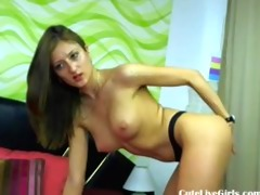 dark brown angel playing with her body6.flv