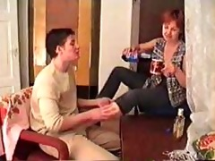 drunk mature mamma screwed on the carpet by