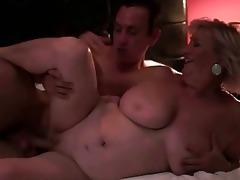 breasty plump grandma enjoys sex with a chap