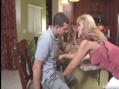 oral pleasure in the kitchen