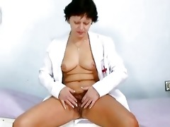 hot mother i in nurse uniform stret...