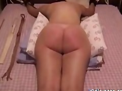 caning my wicked wife a red soar ass