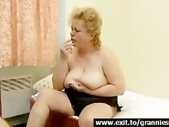 big beautiful woman granny galya and her bananas