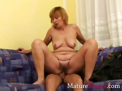 brenda receives a young cock inside her