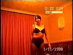 non-professional wife striptease