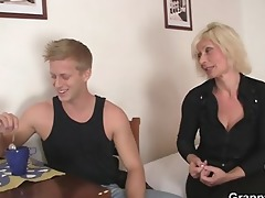 old blond rides her neighbour large penis