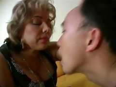 dom french woman spits in her slaves face hole