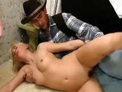excited golden-haired older slut with hot face