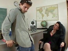 badass mother i does oral and titsjob for student