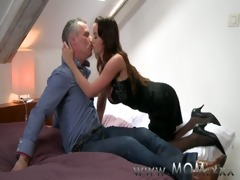 mamma sexually excited brunette hair t live