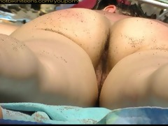 bushy wet crack milfs beach voyeur clip hd
