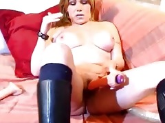breasty older dilettante wife toying arse and cunt