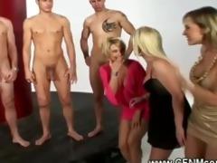 three boyz acquire s garb by lustful milfs