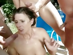 granny in extraordinary pissing and irrumation act